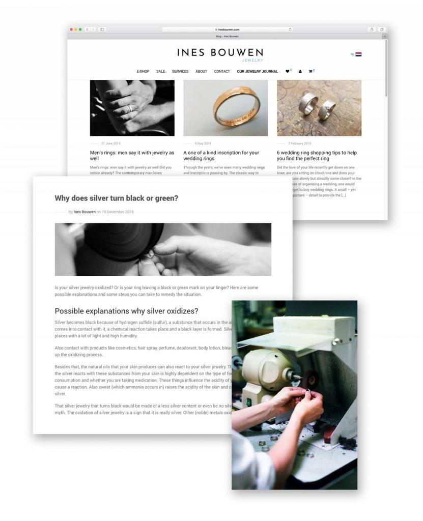 """Voorbeeld van content marketing """"www.inesbouwen.com"""""""